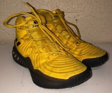 Adidas Mens Yellow Lace Up Basketball Shoes Size 6.5