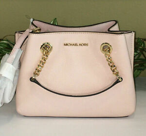 MICHAEL KORS Teagen Small MK Signature Leather Messenger Crossbody Bag