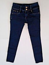 EXCESS {Size 7} Junior's Double Button Stretch Skinny Legging Jegging Jeans VG!