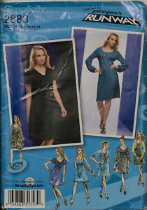Simplicity Sewing Pattern 2883 Dress Overbodice 6-14 Project Runway Ladies UNCUT