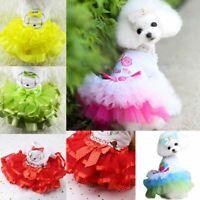 Cute Pet Cat Dog Tutu Lace Dress Skirt Puppy Princess Costume Apparel Clothes