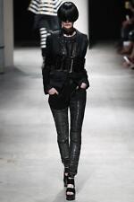 $1,650 UNDERCOVER Jun Takahashi • Black Chain Draped Punk Skinny Jeans 6 28