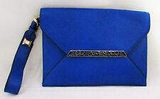 Stella & Dot Avalon Bracelet Clutch Bright Cobalt Wallet Wristlet - New Packaged