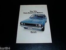1970 AMC American Motors Full Line Javeline AMX Hornet Rebel sales brochure