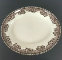 "Wedgewood for Williams-Sonoma Plymouth Turkey 14""Oval Plate Platter Serving Tray"