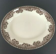 """Wedgewood for Williams-Sonoma Plymouth Turkey 14""""Oval Plate Platter Serving Tray"""
