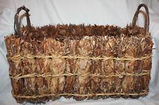 Vintage Twig & Leaf Bundle, Wood & Reed Decorative Basket Planter