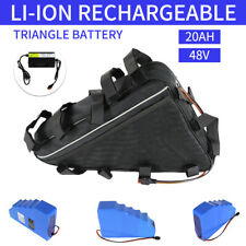 For 1000W 48V 20AH Lithium Lon Electric Bicycle ebike Triangle Battery w charger