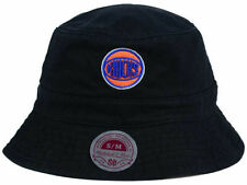 New York Knicks Black NBA Mitchel & Ness Bucket Cap Hat size L/XL