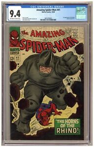 Amazing Spider-Man 41 (CGC 9.4) 1st app. Rhino; John Romita; Marvel; 1966 A628