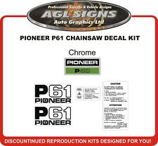 Pioneer P61 Chainsaw Reproduction Decal Kit  P 61