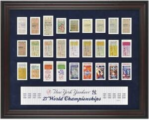 Yankees Framed 27-Time Champs Replica Ticket Collage - Fanatics