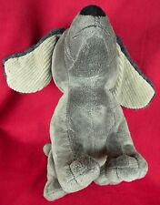 "Curious George Plush Charkie Dog 13"" Gray Soft Floppy Ears Spaniel"