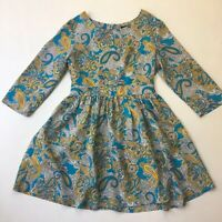 H&M Paisley Print A-line Short Dress, 3/4 Sleeve, Size EUR 40, AUS 12