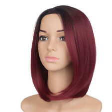 New Synthetic Short Bob Hair Ombre Straight Wig Side Part Women Fashion Wigs USA