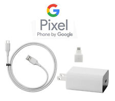 Original Genuine Google Pixel 2 & XL 18W Wall AC Home Charger & Type USB-C Cable