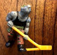 Rocksteady Vintage Remco TMNT Ninja Turtles Sewer Hockey Game PVC Figure 1990