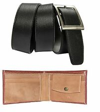 Combo of Brown wallet and Black Belt with free shipping
