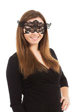 Black Lace Eyemask Masquerade Ball Fancy Dress Mardi Gras Halloween Accessory