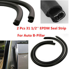 Car Door Edge Weatherstrip Soundproof Rubber Sealing Strip B Pillar Front Rear