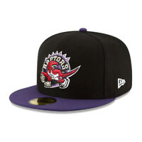 Toronto Raptors TOR NBA Authentic New Era 59FIFTY Fitted Cap 5950 - Black/Purple