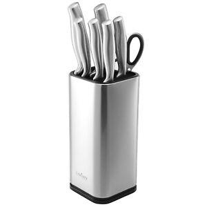 Universal Knife Block, Stainless Steel Knife Holder- Organizer, Rectangular