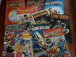underground comics lot X 10 Many Titles Comix