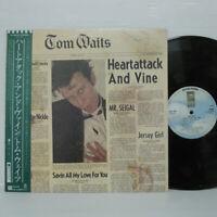 TOM WAITS - HEARTATTACK LP 1980 JAPAN Asylum Records 6E-295 EAGLES SSW w/ obi