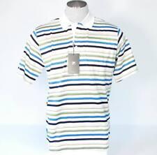 Fila Golf Multi Stripe Short Sleeve Polo Shirt Mens Medium M NWT  $90
