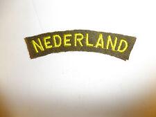 b9533 WW2 Dutch Netherlands Nederland Holland Army yellow OD tab C9A2