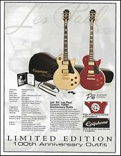 Epiphone Les Paul Custom Guitar 100th Anniversary Outfit with specs 8 x 11 ad