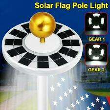 128 LED Flag Pole Solar Power Automatic Light Night Super Bright Camping Light