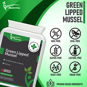 Green Lipped Mussel Capsules 90x500mg - Joint Pain Relief Arthritis Knees Elbows