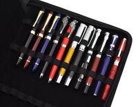 Fountain Pen / Rollerball Pen Leather Pen Case Pouch Holder for 48 Pens - Black