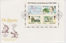 Unaddressed Isle of Man FDC First Day Cover 1989 Mutiny on the Bounty sheet