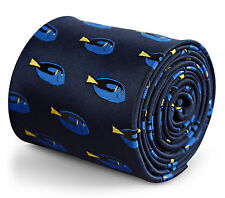 Frederick Thomas navy tie with finding dory fish design FT3269