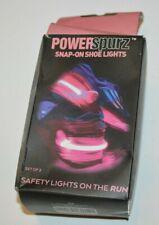 Running Shoe Safety Lights Set of 2 PINK PowerSpurz Snap-On Runner Flashing 4id