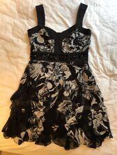 Ladies Karen Millen Silk Cocktail Dress Size Uk12