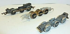 Hornby Triang & other  00 model Railway   Loco Chassis  x3