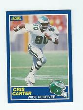 1989 SCORE #72 CRIS CARTER ROOKIE FOOTBALL CARD