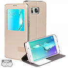 S-VIEW Book Case Bookcase Cover Pouch for Samsung SM-G928 Galaxy S6 EDGE PLUS+