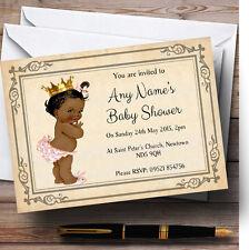 Baby Girl Dark Skin Baby Shower Personalised Invitations