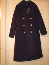 Boo Hoo Petite Amber Double Breasted Military Coat Navy Size 10 Bnwt