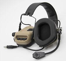 EARMOR OPSMEN Tactical Earmor M32 Electronic Headphones w/ AUX NATO Input Tan