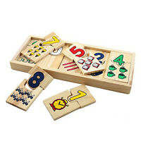 Montessori Game Baby Kids Math Toys Wooden Number Puzzles Educational Toys KS