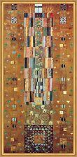 Ritter Stoclet Fries Blattgold Jugendstil Secession LW Gustav Klimt A2 025