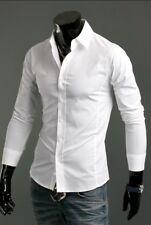 Luxury Shirts Mens Casual Formal Slim Fit Shirt Top S M L XL XXL Ps01 White Tag Sizel(us S)