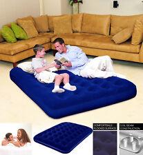 Comfort Quest Flocado Doble Inflable Colchón de Aire Cama de Aire-Azul 75 X 54 X 8.5 pulgadas