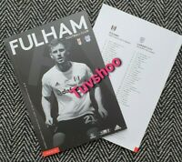 Fulham v Cardiff City BEHIND CLOSED DOORS Programme 10/7/2020!READY TO DISPATCH!