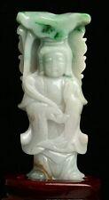 Cert'd 2 Color Nature Grade A jadeite Jade Sculpture Statue Bodhisattva r739742